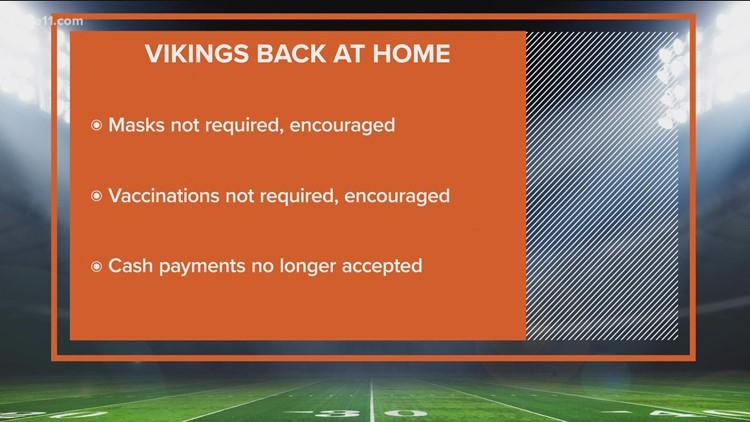 The Minnesota Vikings return to U.S. Bank Stadium