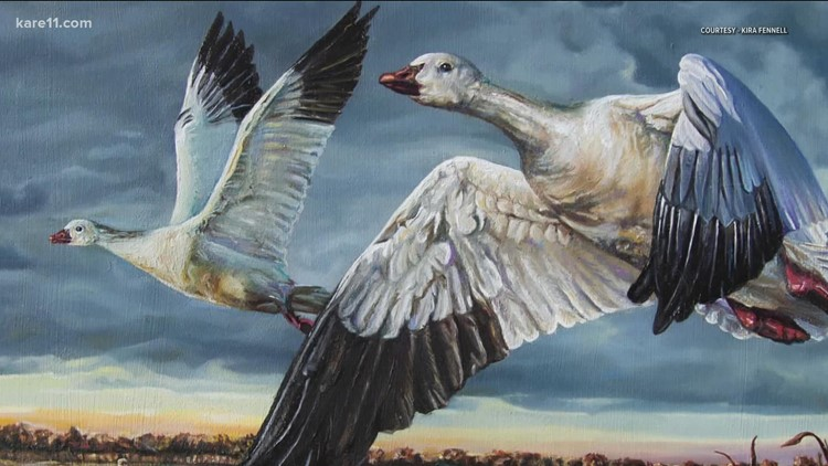 Local artist gains TikTok fame vying to be top wildfowl artist