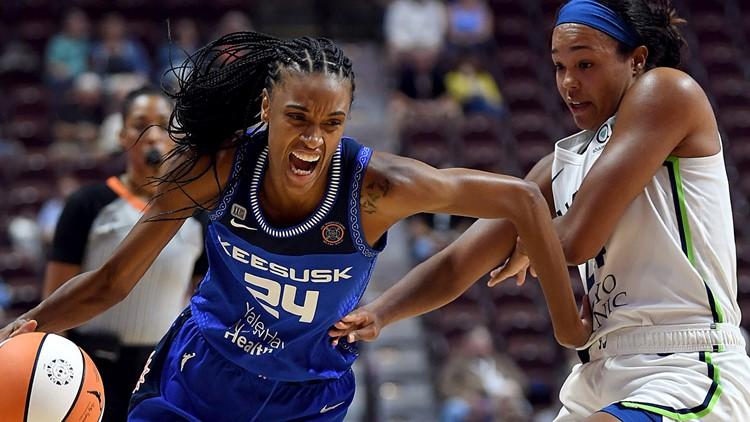 Jones' double-double helps Sun snap Lynx's 8-game win streak