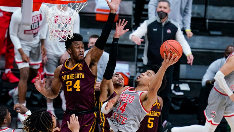 No. 9 Ohio State ends skid, holds off Minnesota 79-75