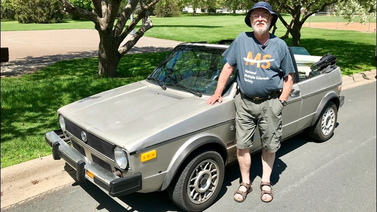 Bob Husby with his Volkswagen Cabriolet. (Photo: Boyd Huppert, KARE 11)