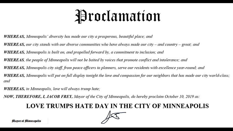 Mayor Frey's declaration