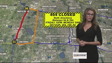 Weekend traffic outlook from Alicia Lewis