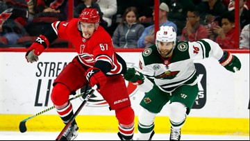 Teravainen helps lift Hurricanes past Wild 5-1