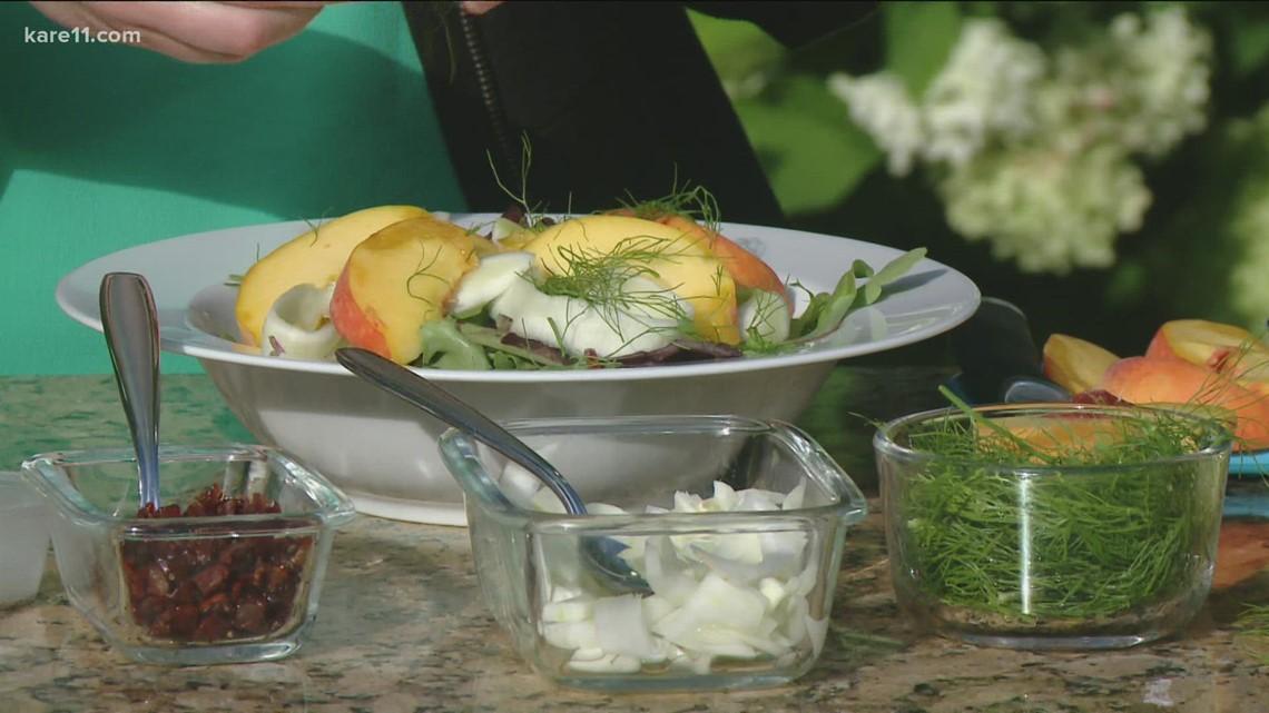 RECIPE: Zucchini Ribbon Salad with Peaches and Prosciutto
