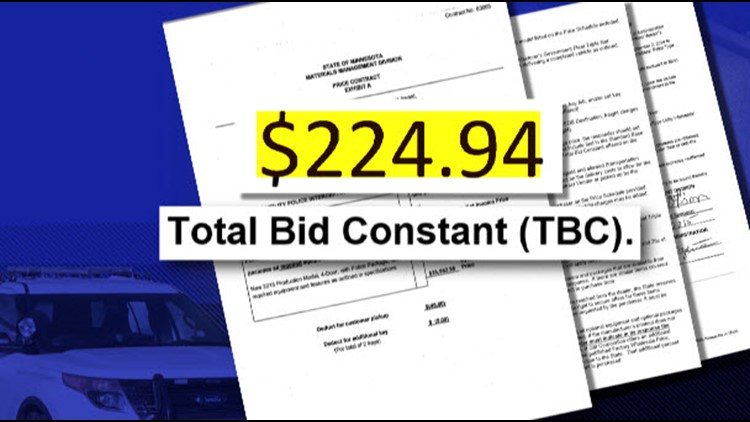 "The original state contract listed the fixed profit – called the ""Total Bid Constant"" – as $224.94 per vehicle. (Photo: KARE 11)"
