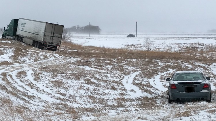 Snow left by storm creates road challenges for MnDOT