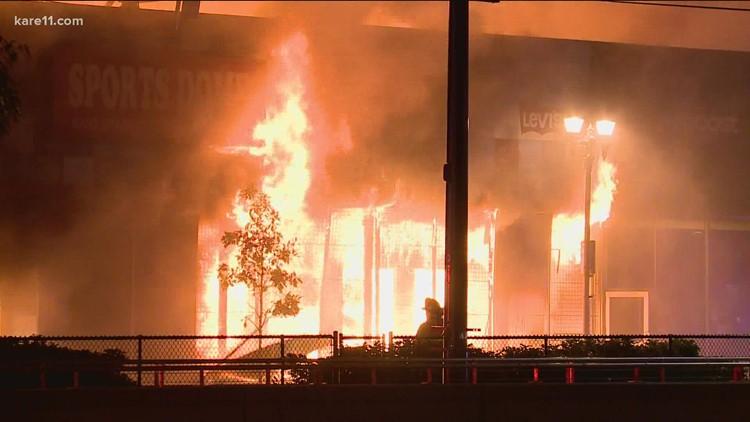 Destroyed in 2020 unrest, demolition of Midway Shopping Center now underway