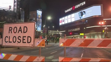 City of Minneapolis street closures ahead of President Trump's rally at Target Center