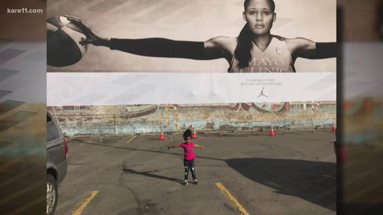 Maya Moore 'Wings' billboard inspires girl in viral photo