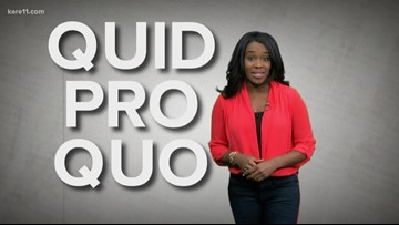 What does 'quid pro quo' mean?