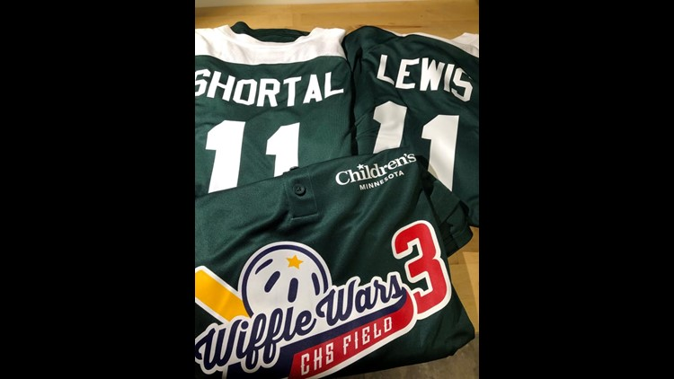 Jana Shortal and Alicia Lewis' Wiffle Wars jerseys