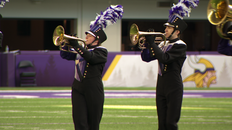 Thousands of marching band musicians return to football field to compete after a year off
