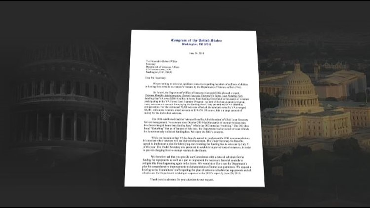 Bipartisan group of lawmakers issue letter to VA demanding answers about VA loan overcharges.
