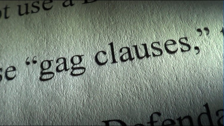 Gag clause