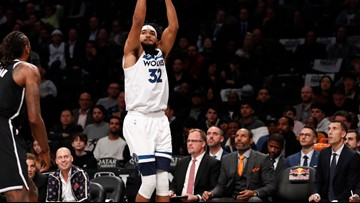 Wolves top Nets in OT, Irving scores 50 but misses last shot