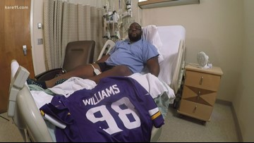 Former Vikings & Gophers player Ben Williams gives thanks after kidney transplant