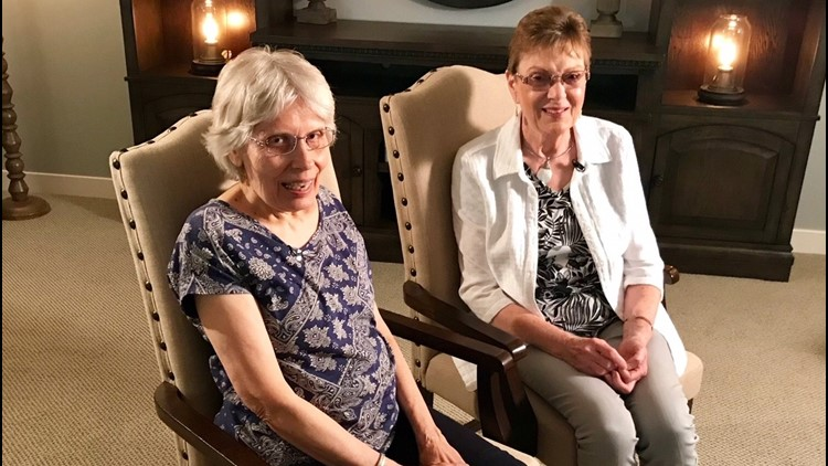 Denice Juneski and Linda Jourdeans learned recently they were switched at birth. (Photo: Boyd Huppert, KARE 11)