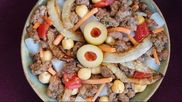 Moroccan Sausage Bowl