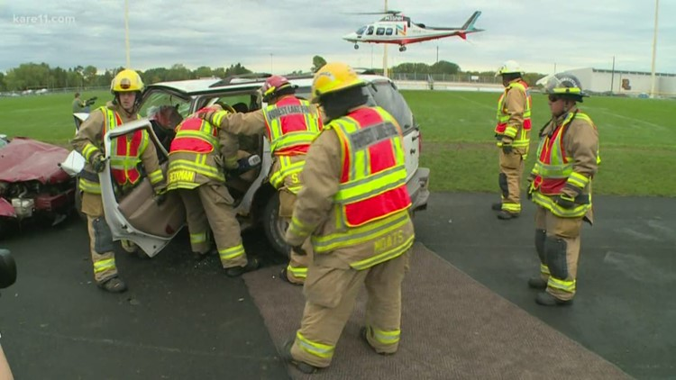 #eyesUP: Forest Lake High School hosts mock crash