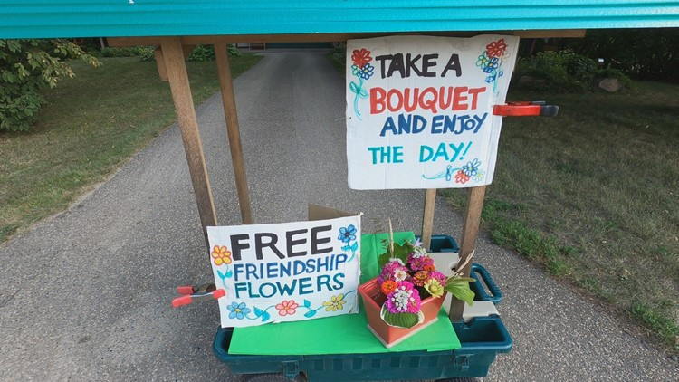Corcoran woman inspires with Free Friendship Flower Cart