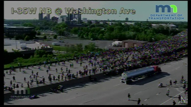Charges to be dropped against trucker who drove into I-35W protest