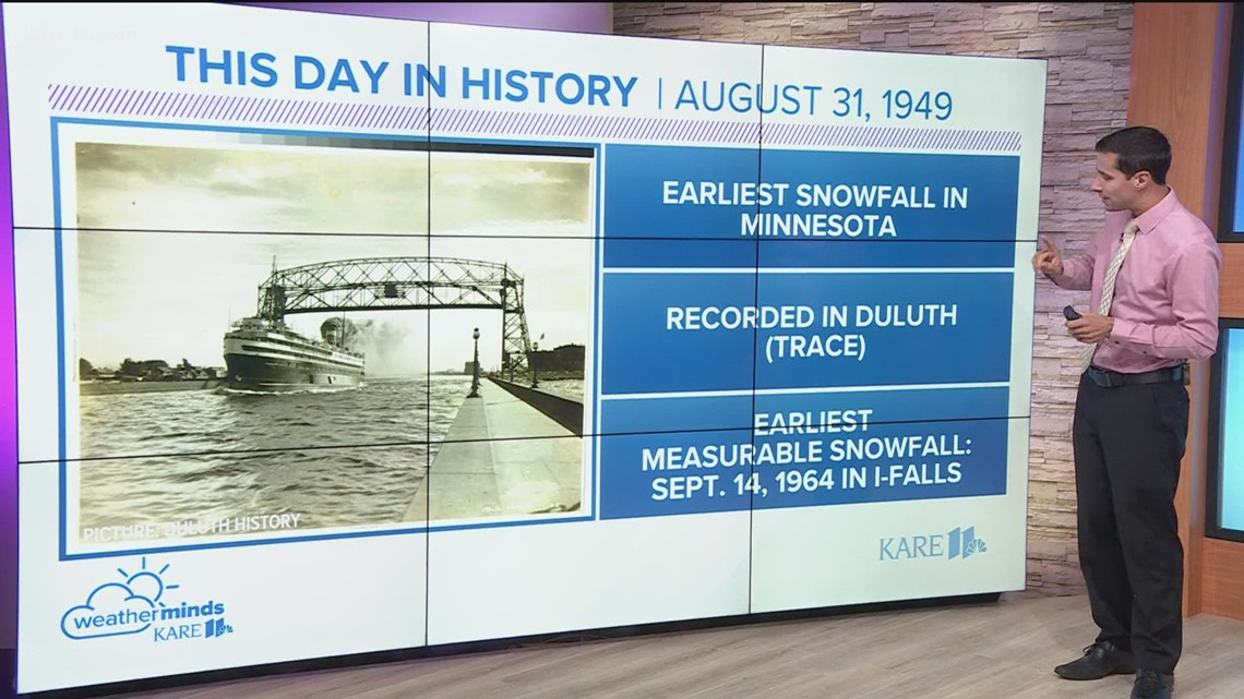WeatherMinds: Earliest recorded snowfall in Minnesota history