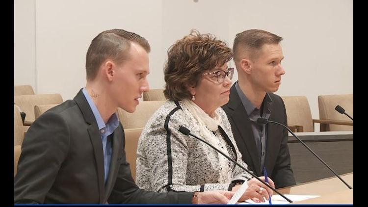 Seth and Peter Westlake testify at Senate Judiciary hearing.
