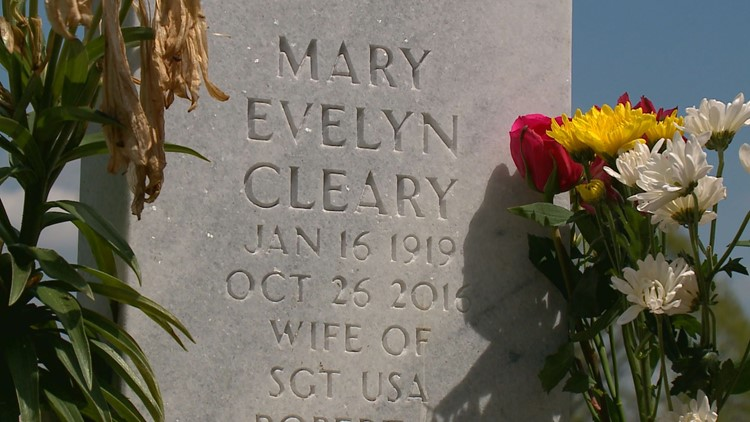 Mary Cleary's headstone. Credit: KARE 11
