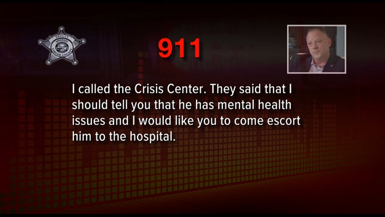 Before Don Amorosi called police, records show he had called a mental health crisis line.