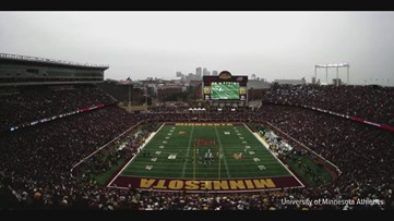 Timelapse: Fans rush the field after Minnesota Golden Gophers win over Penn State