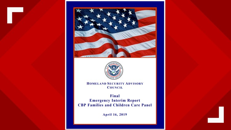 Cover page of the Homeland Security Advisory Council emergency interim report published April 16, 2019