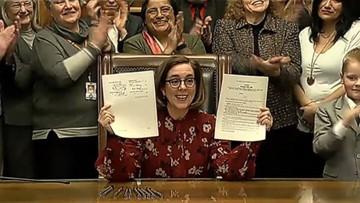 Oregon Gov. Kate Brown signs mandatory rent control bill