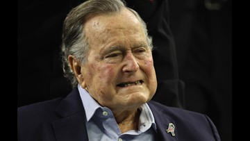 President George H.W. Bush discharged from hospital
