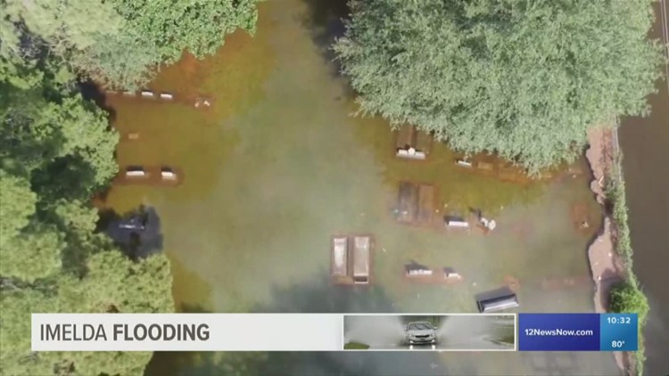 Coffins seen floating in Texas cemetery