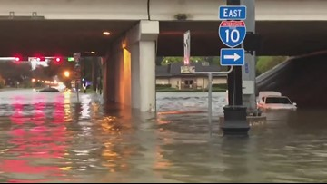 WATCH: Video shows the impact of Imelda's flooding rains in Beaumont