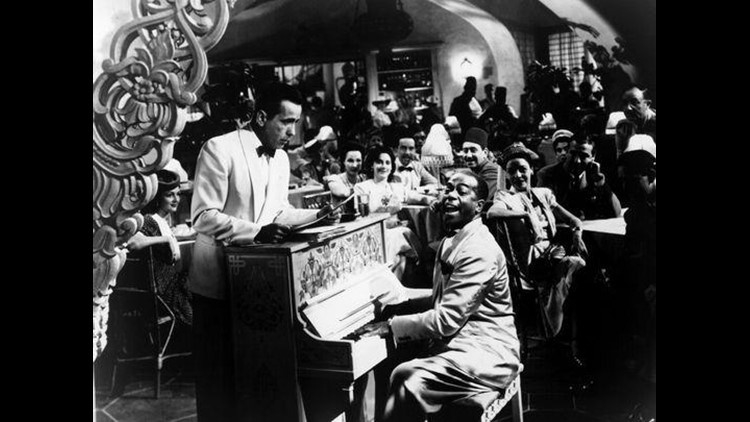 "Humphrey Bogart and Dooley Wilson in a scene from the film ""Casablanca.""   (Photo: TURNER ENTERTAINMENT)"
