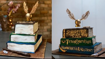Incredible Harry Potter-inspired cake with actual levitating Golden Snitch goes viral