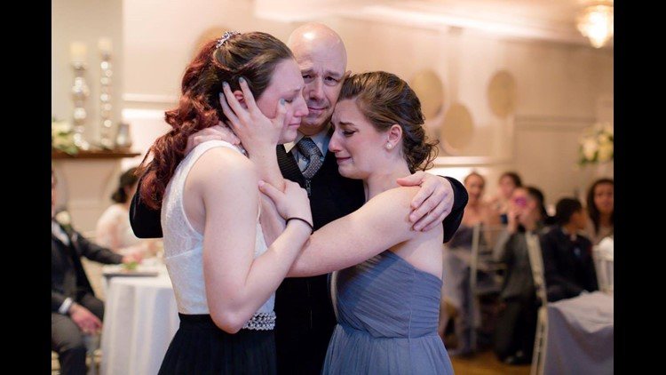 Bride Gives Up Father Daughter Dance To Bridesmaid And Dad With