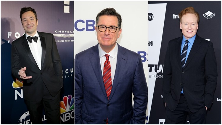 Late-night TV hosts team up for comic response to Trump comments