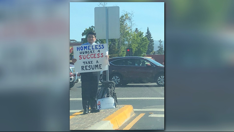Homeless man's job search gets attention from Google, Netflix