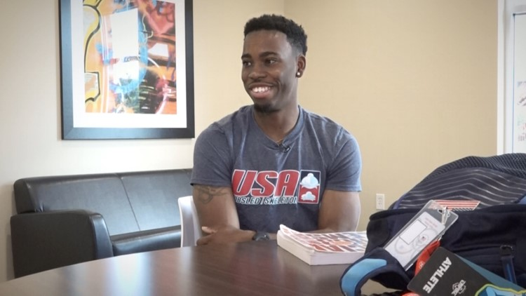 Nigel Talton's appearance as 'The Freeze' during Atlanta Braves games gained him international attention. But his ultimate goal is to represent Team USA at the Olympics.