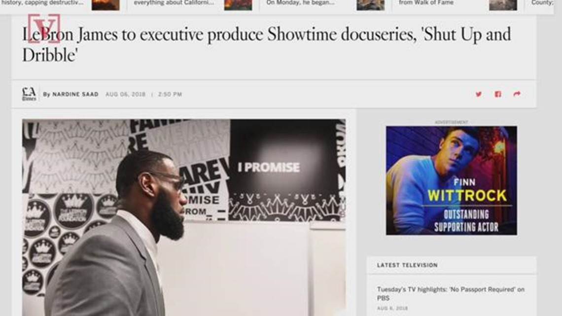 994625724fa8 LeBron James To Produce Docu-series Titled  Shut Up and Dribble  on Showtime