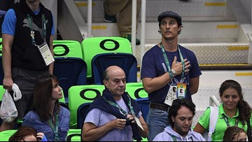 Photos: Matthew McConaughey is having the best time at the Olympics