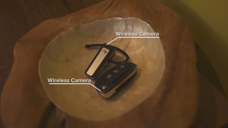 Wireless cameras are now concealed in key fobs and earpieces.