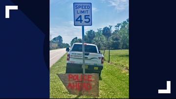 Sign tips off Florida speeders that deputies were lying in wait