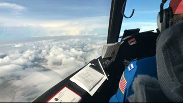 Getting a look at Harvey from a Hurricane Hunter