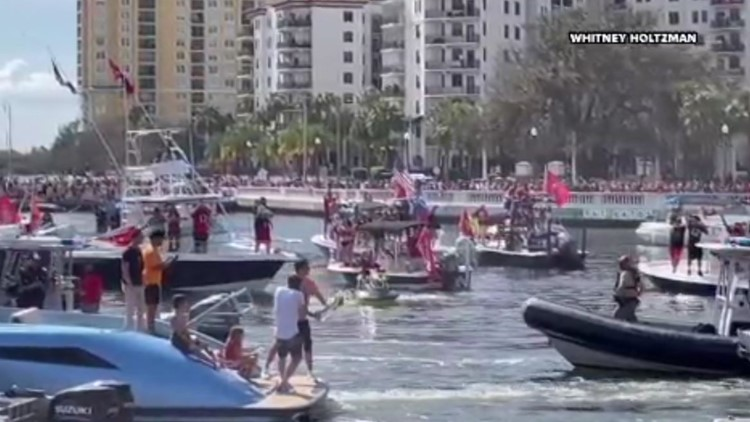 Party with Lombardi: The Buccaneers' Super Bowl LV boat parade is one for the books