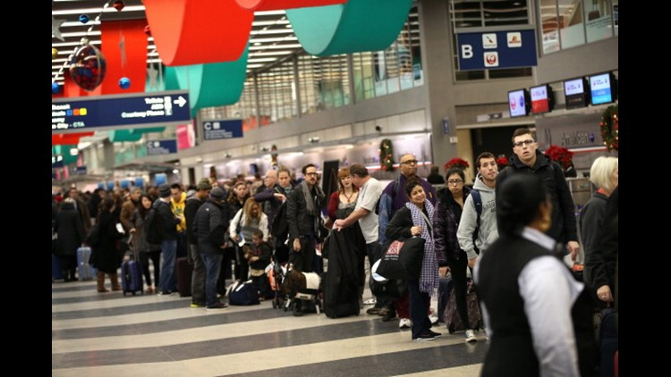 <p>Arrive early. Brace for crowds. Pack smart.That's the advice from airport officials as the busy rush around Christmas and the winter holidays kicks into high gear this week.</p>