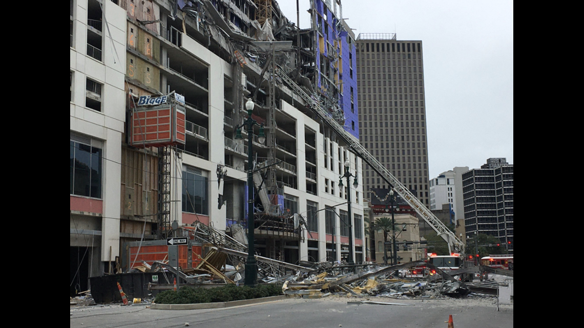 Hard Rock Hotel Collapse Video In New Orleans